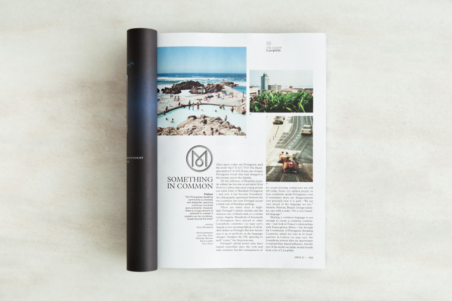 Monocle magazine tearsheet